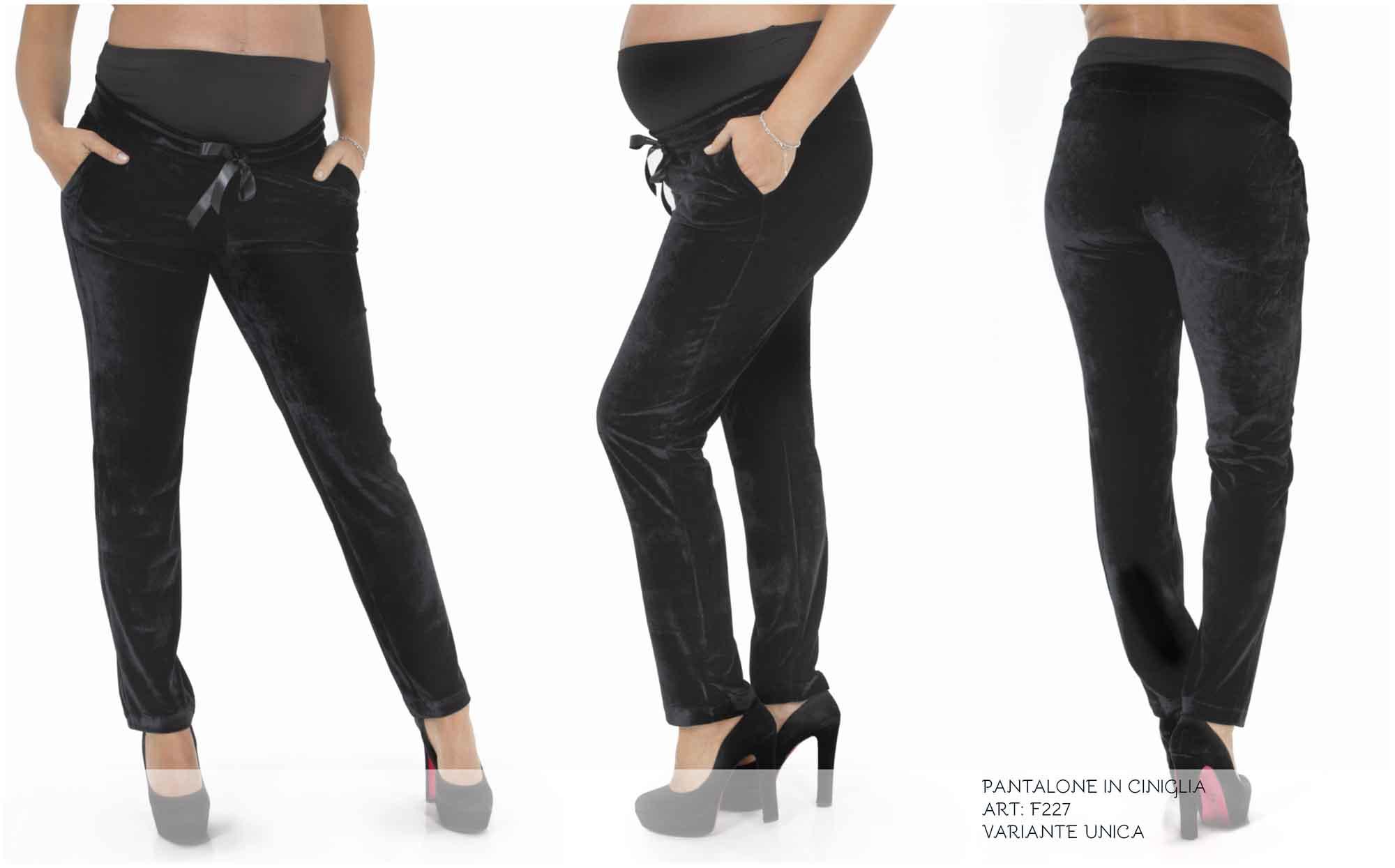 pantalone ciniglia elastica premaman
