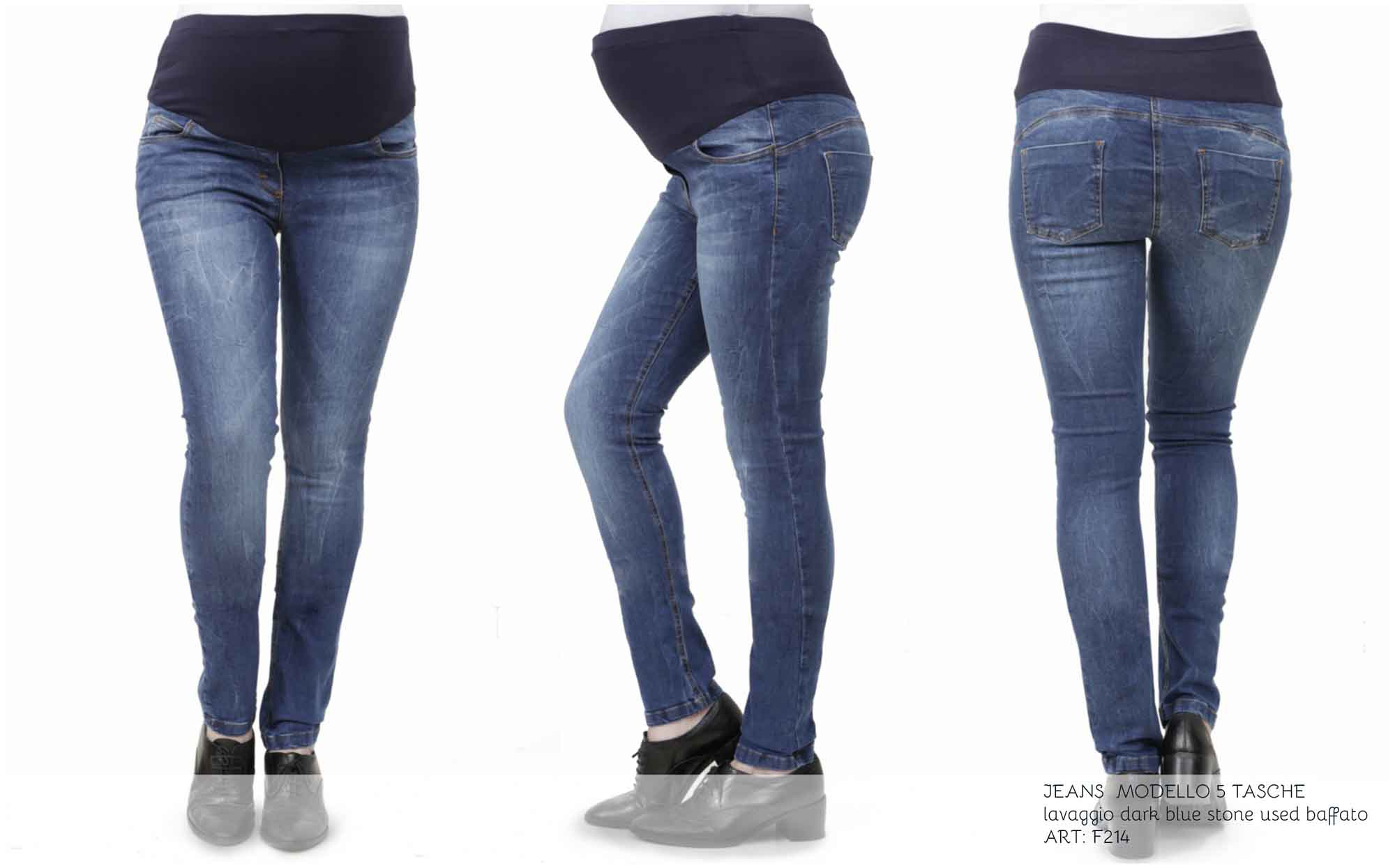 jeans premaman aderente